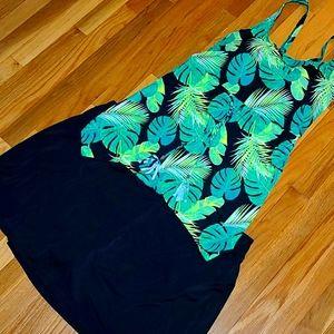 D&Co Beach Hi-Low Tanking Swimsuit 26W